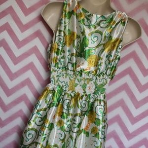 Planet Gold Dresses - Planet Gold Silky Floral Dress Size S
